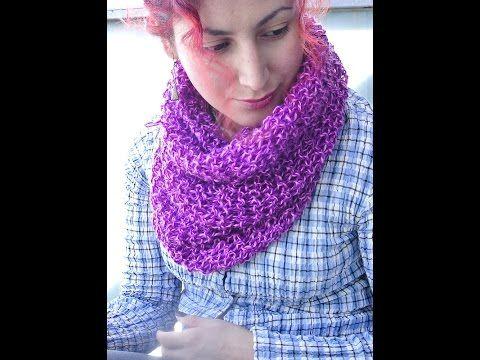 Cómo Tejer Bufanda Mágica de Verano-How to Knit Summer Scarf 2 Agujas (227) - YouTube