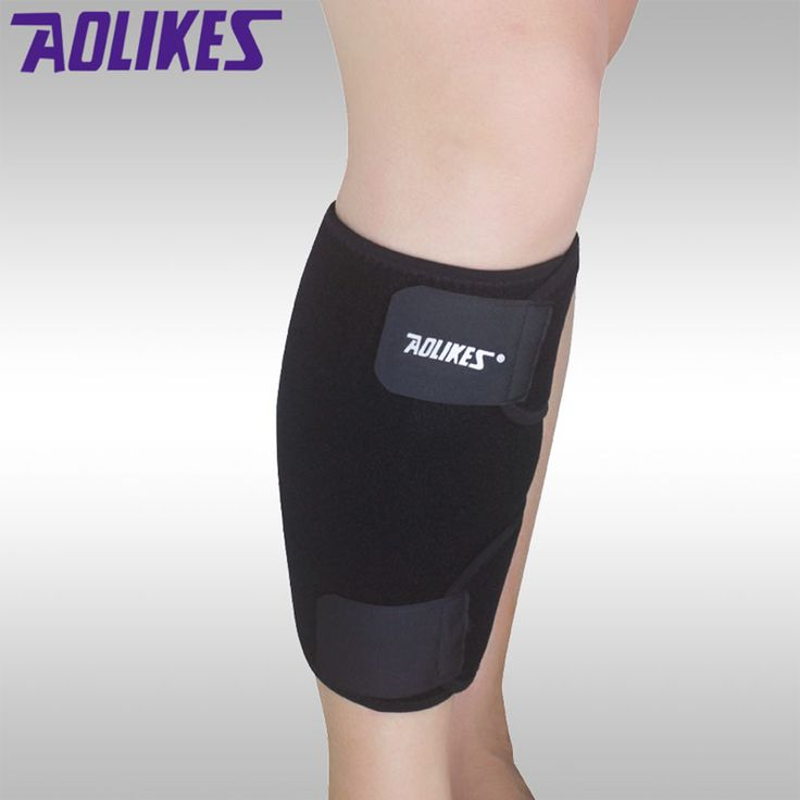 AOLIKES 1PCS Shin Guards Calf Compression Sleeve Basketball Fitness Cycling Leg Support Pad Sports Safety A-7966