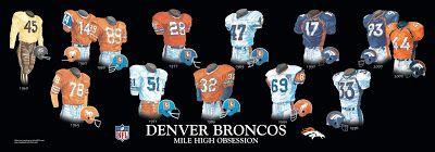 Denver Broncos uniform history