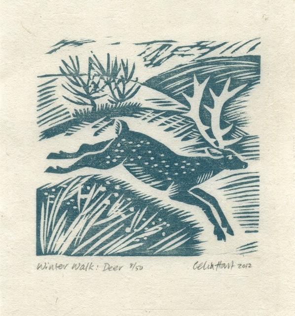 Winter walk- deer. Celia Hart