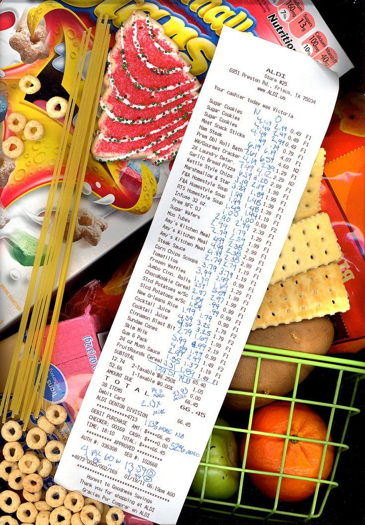 Saving money by shopping at Aldi.  Photo is a scanogram. @rethinkgood