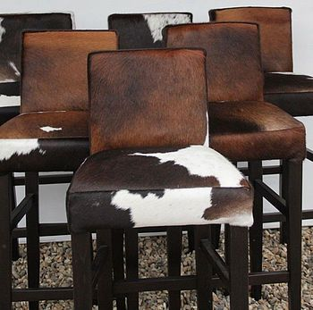 Cowhide bar stools