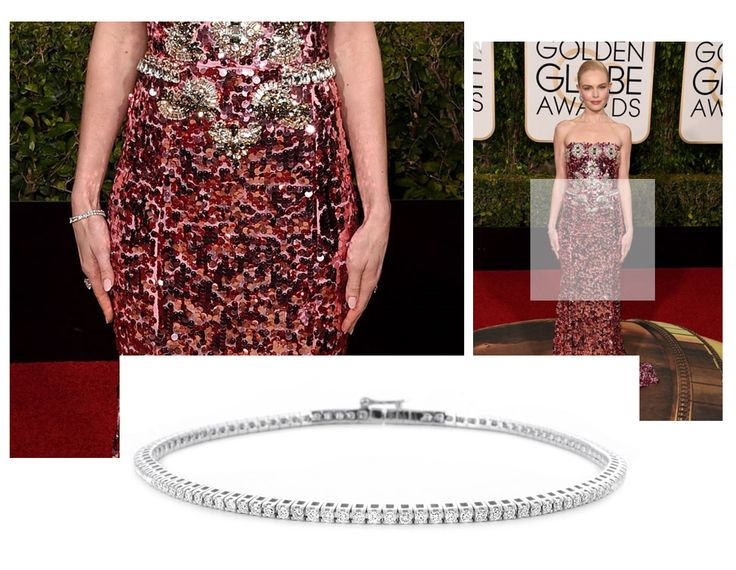 Golden Globes 2016. Kate Bosworth in Dolce & Gabbana. We think our Diamond tennis bracelet is the perfect accessory for this dress.