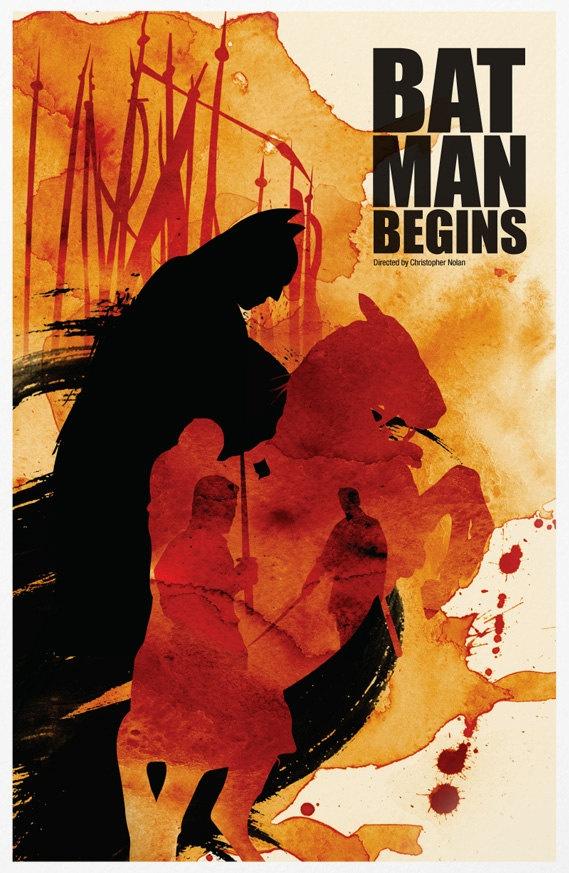 Batman Trilogy Poster Set 11x17. via Etsy.