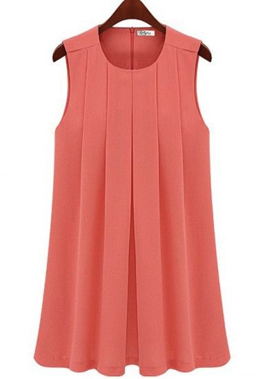 sleeveless pleated dress