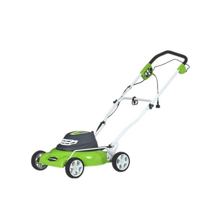 "GreenWorks 25012 12 Amp 2-in-1 Electric Push Lawn Mower with 18"" Cutting Width Push Lawn Mowers Walk Behind Mowers Electric Push"