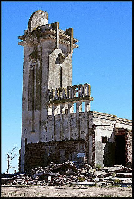 Art Deco architecture by Francisco Salamone, Derelict Matadero (slaughterhouse) in Carhue, Argentina