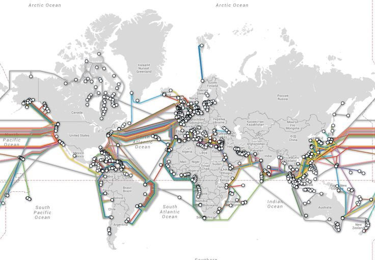 RSLN | 10 chiffres qui racontent l'Internet mondial > 1,5 million de kilomètres, cela représente presque 4 fois la distance Terre-Lune : c'est la longueur totale de fibre optique dans le monde qui permet de relier par mer ou par terre les territoires les plus éloignés au réseau. Parmi les câbles sous-marins, force est de constater que certains territoires sont moins connectés que d'autres.