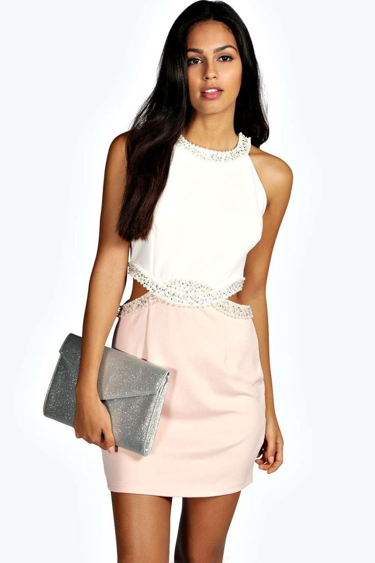 Birdie Sweetheart Cut Out Side Bodycon Dress at boohoo.com