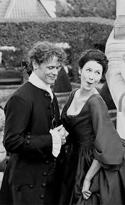 Just go with the flow...... — jamesandclairefraser: Sam and Cait | Behind The...