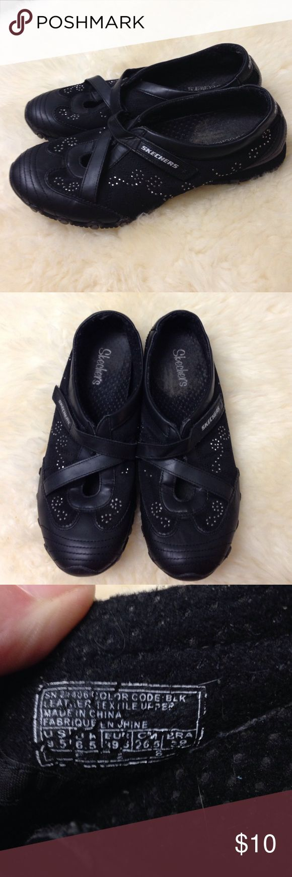 Skechers Bikers Blissful Style Shoes The shoes have been gently worn. They are still in great shape and are in clean condition. Skechers Shoes Sneakers