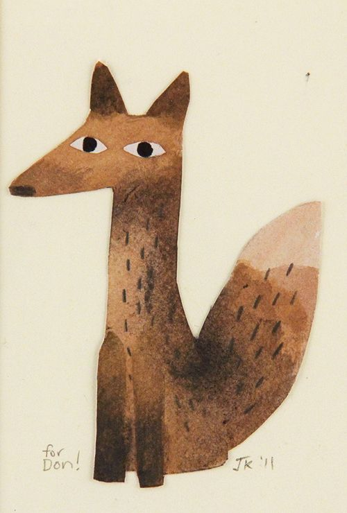 Jon Klassen - Artwork - fox - Nucleus | Art Gallery and Store