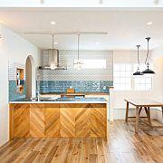 Kitchen,パントリー,サブウェイタイル,ウッドワン,ステンレス天板,WOODONEに関連する他の写真