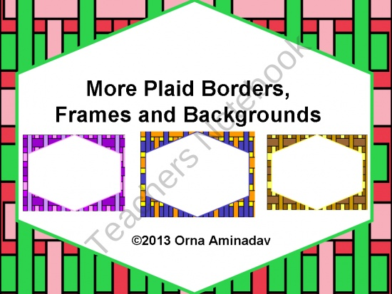 6 Frames and 6 backgrounds for your class and commercial products.