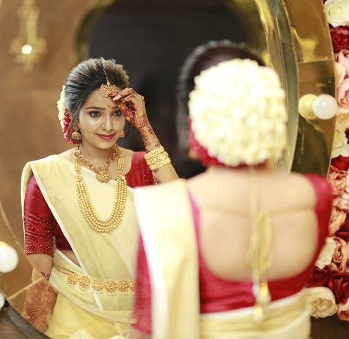 Pin By Aswany Mohan On Saree Indian Bride Hairstyle Bridal Hairstyle Indian Wedding South Indian Bride Hairstyle