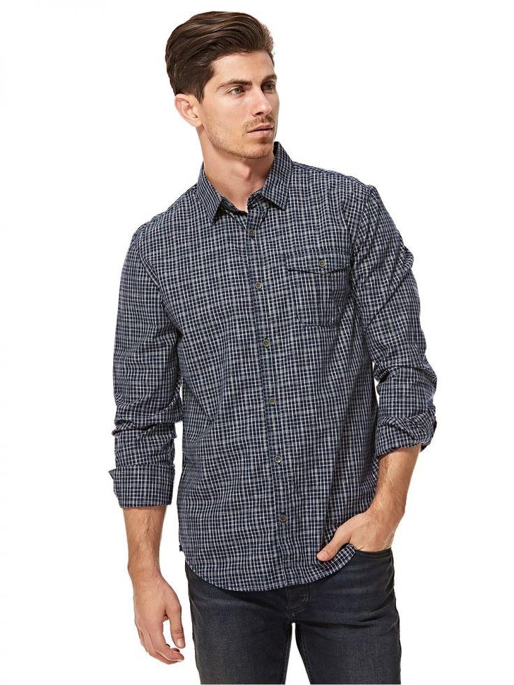 اشتري كالفن كلاين قميص ازرق ورمادي قبة قميص -رجال - بلايز/ تيشيرتات | السعودية | سوق