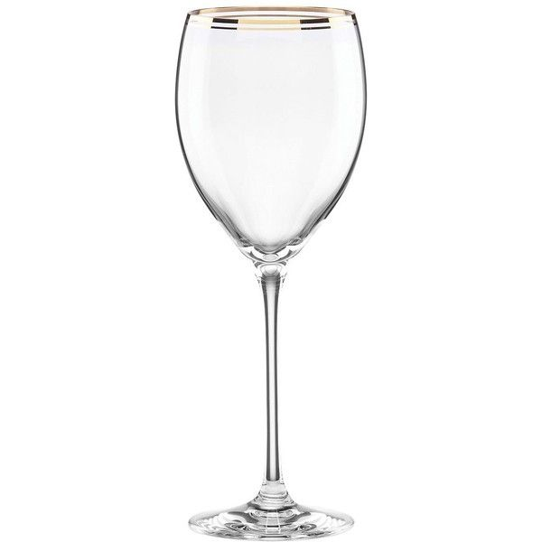 Kate Spade New York Orleans Square Wine Glass ($35) ❤ liked on Polyvore featuring home, kitchen & dining, drinkware, gold trim, square wine glass, kate spade, square wine glasses, kate spade wine glasses and gold trim wine glasses