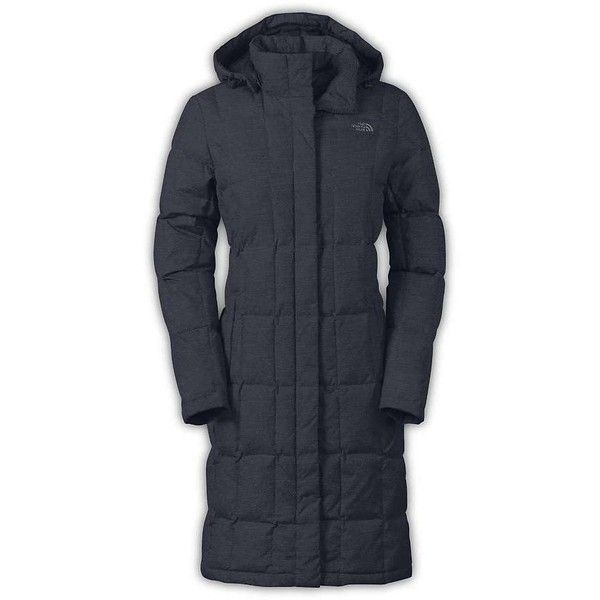 The North Face Women's Metropolis Parka (£185) ❤ liked on Polyvore featuring outerwear, coats, urban navy heather and the north face