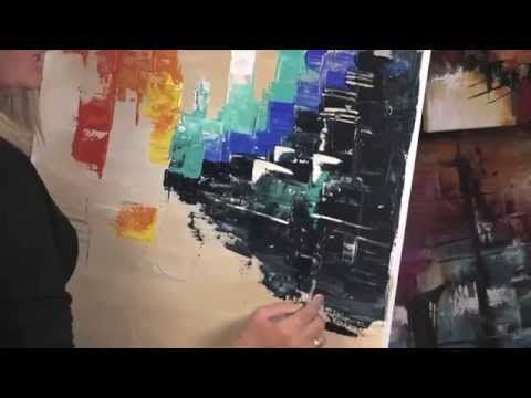 MONITOR | Gabriela Mensaque - cuadro - Acrílico Profesional Lautrec | Manos a la Obra - YouTube