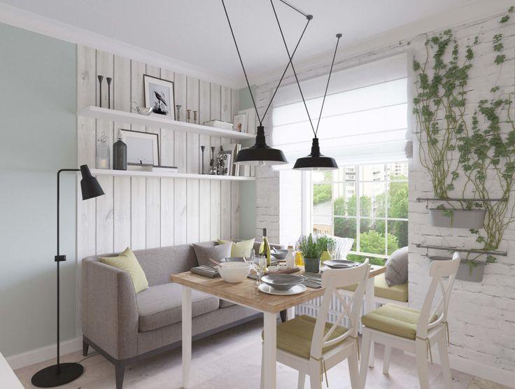 трехкомнатная квартира в скандинавском стиле