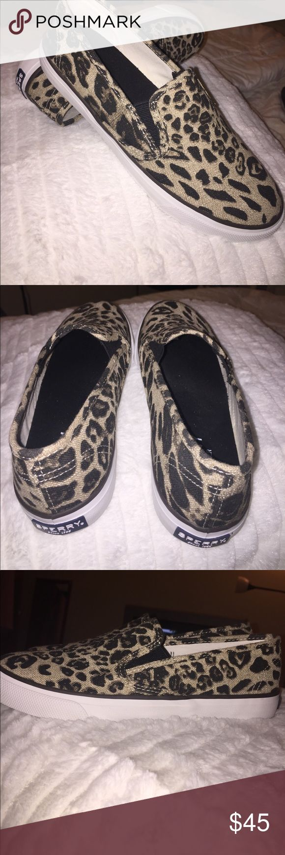 ⚡️Sale⚡️Leopard Sperry Women's Slip-On Sneakers ✨ ✨ Leopard Sperry Women's Slip-On Sneakers ✨ size 8 .  Worn once/ Runs slightly small.⚡️Get it now before it's gone ⚡️.                                           BUNDLE TO SAVE! (Secret offer if you bundle )                     👍Offers 👍Bundles 👍 Questions.       👏ALL OFFERS Shoes Sneakers