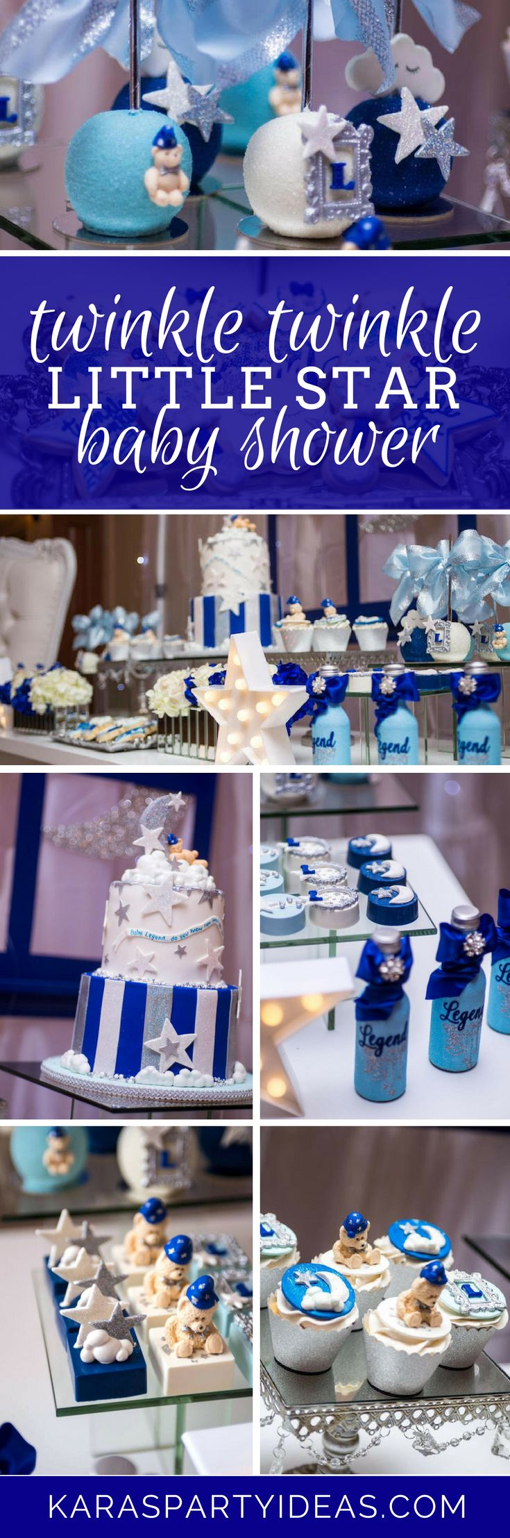 Twinkle Twinkle Little Star Baby Shower via Kara's Party Ideas - KarasPartyIdeas.com