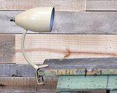 Vintage Desk Lamp, WORKS, Gooseneck Lamp, Clip On Desk Lamp