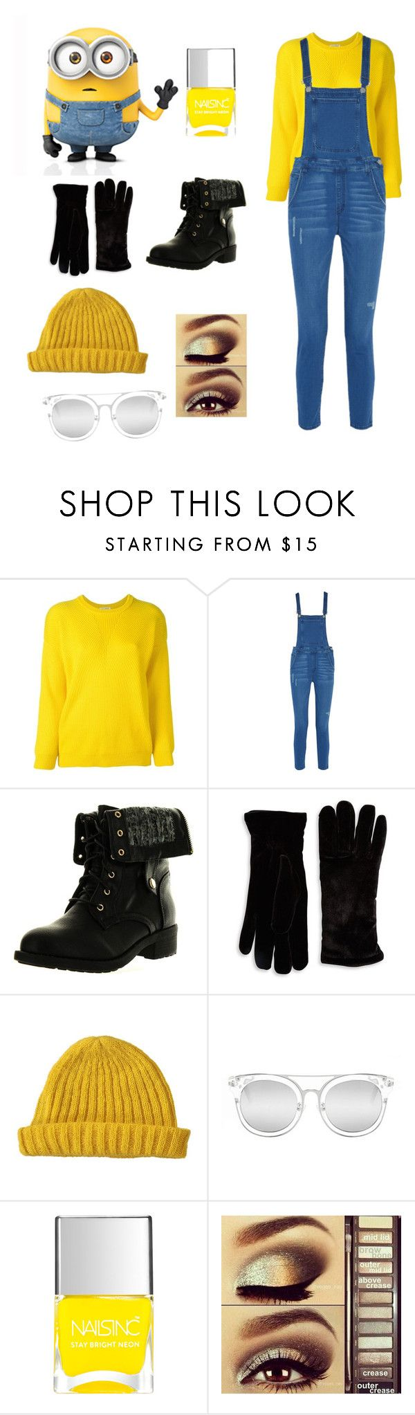 """Minion costume"" by fashion-lover63 ❤ liked on Polyvore featuring Roseanna, Rebecca Minkoff, Refresh, Cejon, Lowie, Quay, Nails Inc. and Urban Decay"