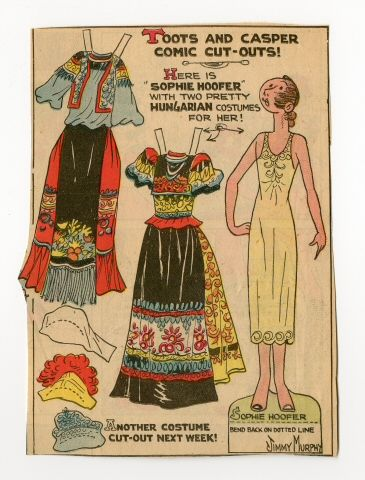 78.2393: Sophie Hoofer-Hungary | paper doll | Paper Dolls | Dolls | National Museum of Play Online Collections | The Strong