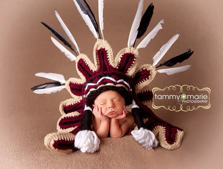 Seminole University of Florida Indian Headdress by MimiLaCreations, $99.00