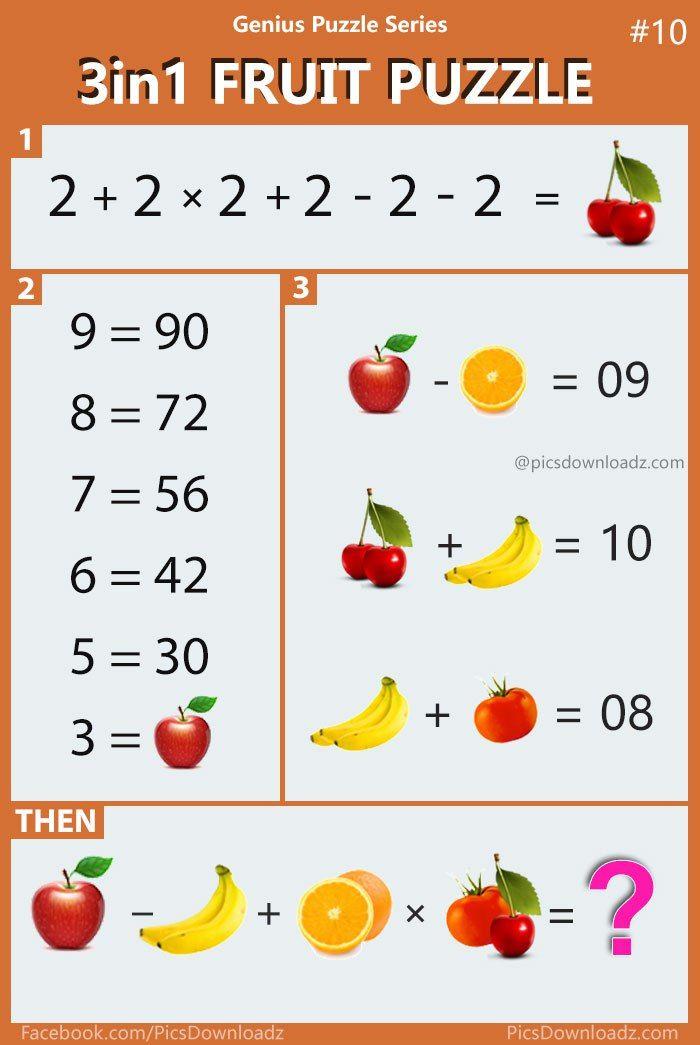 3in1 Fruit Puzzle Genius Puzzle Series 10 Viral Confusing