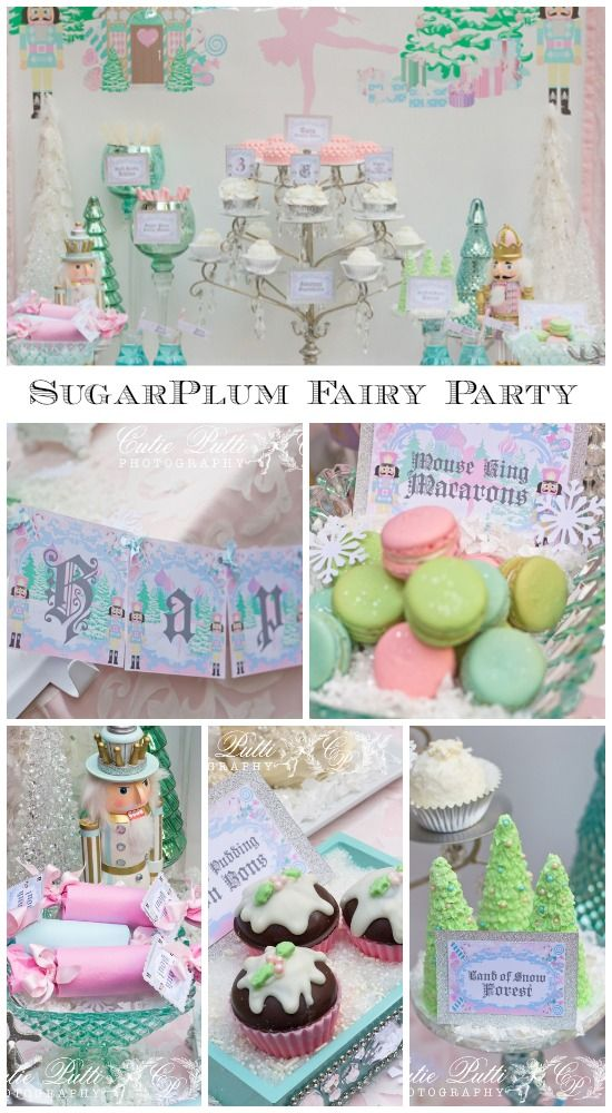 Gorgeous Nutcracker Sugarplum Fairy girl birthday with amazing desserts, perfect for a Christmas birthday!