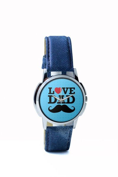 Wrist Watches India | Love Dad Moustache | Father's Day Wrist Watch Online India.