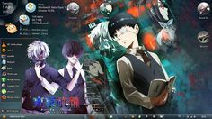 Theme Anime Windows 7 Tokyo Ghoul / Kaneki Ken, Kirishima Touka
