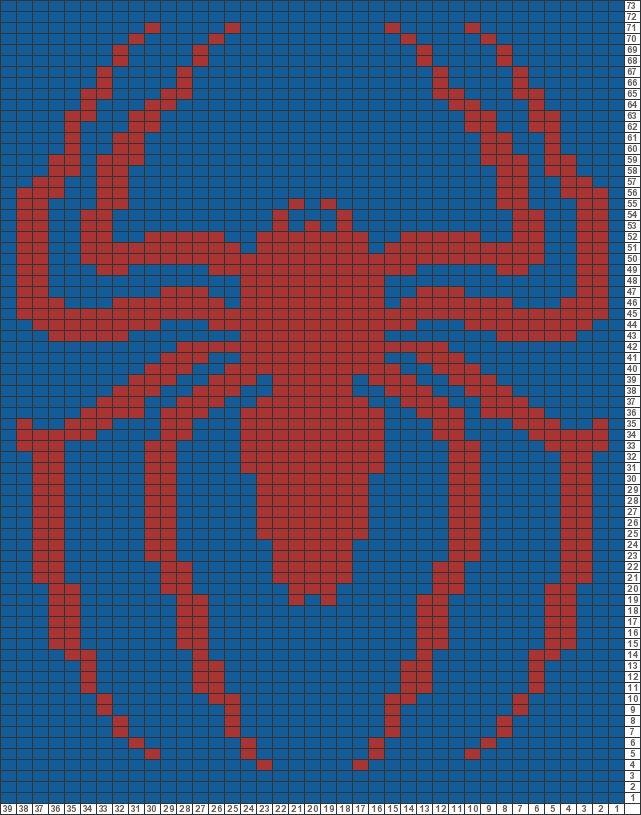 Tricksy Knitter Charts: red spider by GMLiska