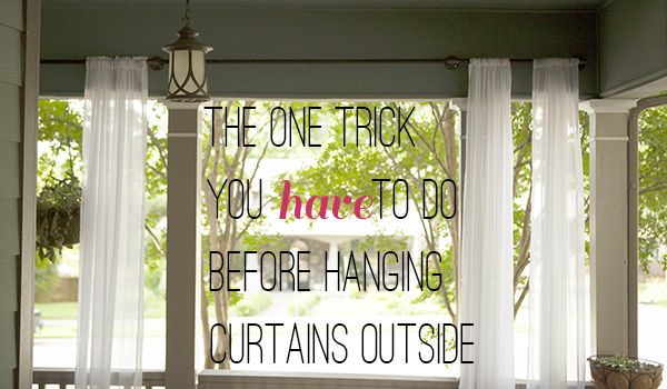 how to stop outdoor curtains from blowing