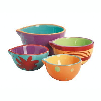 Fox Run Craftsmen Kima 4-Piece Ceramic Measuring Cup Set