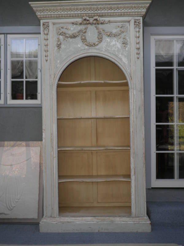 Bookcase, French Bookcase, Antique Shelves, hutch, furniture, cabinet, bookshelf #NEOCLASSICAL