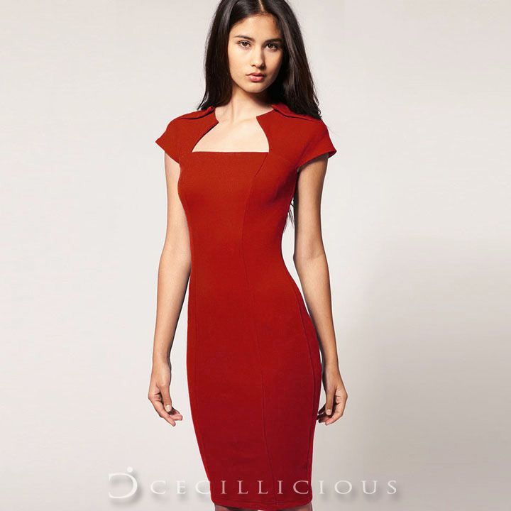 Dorothy Red Midi Dress