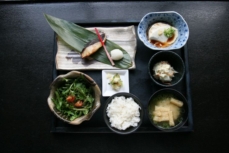 Saikyo Miso Black Cod lunch set.  Image courtesy of ENJB - Japanese Brasserie (NYC)
