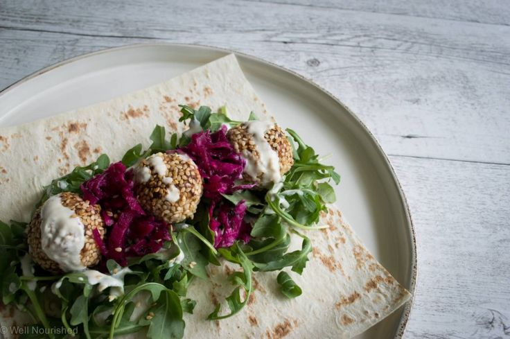 Well Nourished ⎮ Nut Falafel with a tahini drizzle - These Nut Falafel with a tahini drizzle are a really simple, tasty vegan meal or snack. They are delicious in a wrap or on a salad plate.