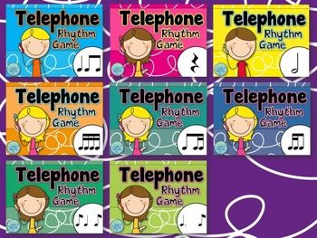 Telephone Rhythm Game Bundle - a game to practice rhythm reading and memory in the music room for any time of year. #musiceducation #musedchat #rhythm #elemused