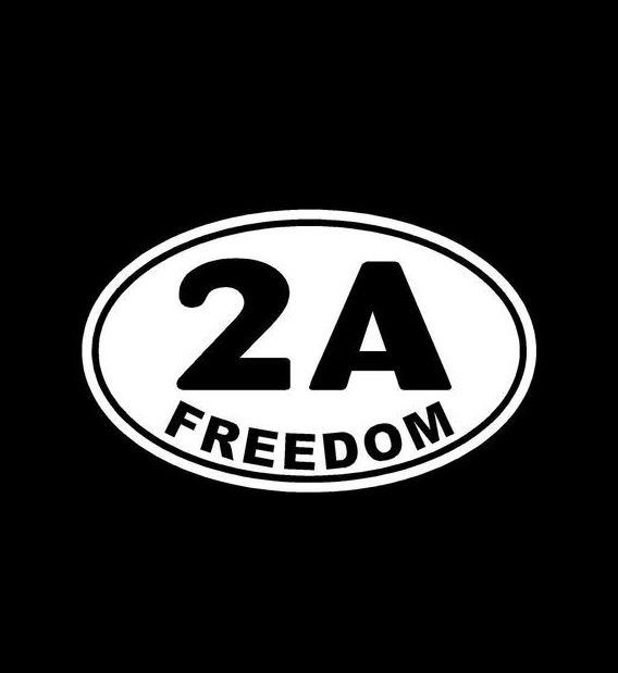2nd Amendment Freedom Oval 2A Vinyl Decal Choose Color and Size Made with 100% Automotive Grade Vinyl