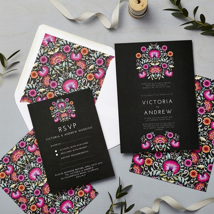 Lucy says I do wedding invitation love amongst the flowers sunset folk Mexican floral ornamental