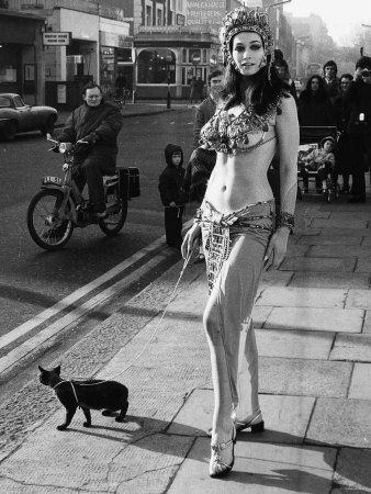 Actress Valerie Leon in a Publicity Stunt For the Hammer Horror Film Blood from the Mummy's Tomb