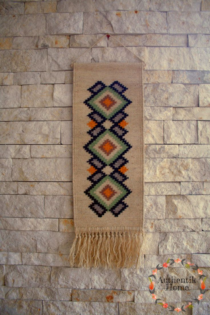 Kilim rug wall hanging, made in Romania. www.facebook.com/authentikhome