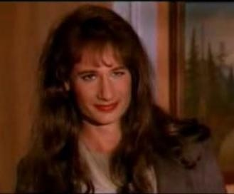 David Duchovny as a woman on Twin Peaks