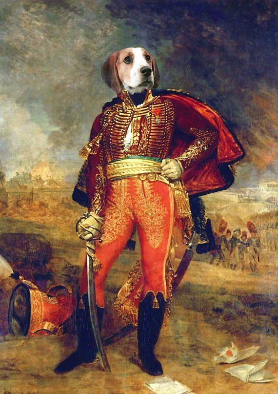 портрет собаки, животное портрет, животное в костюме, красивая, изготовленной на заказ собаки портрет, смешной, печать, персонализированный, маточное животное, смешное, маточное животное