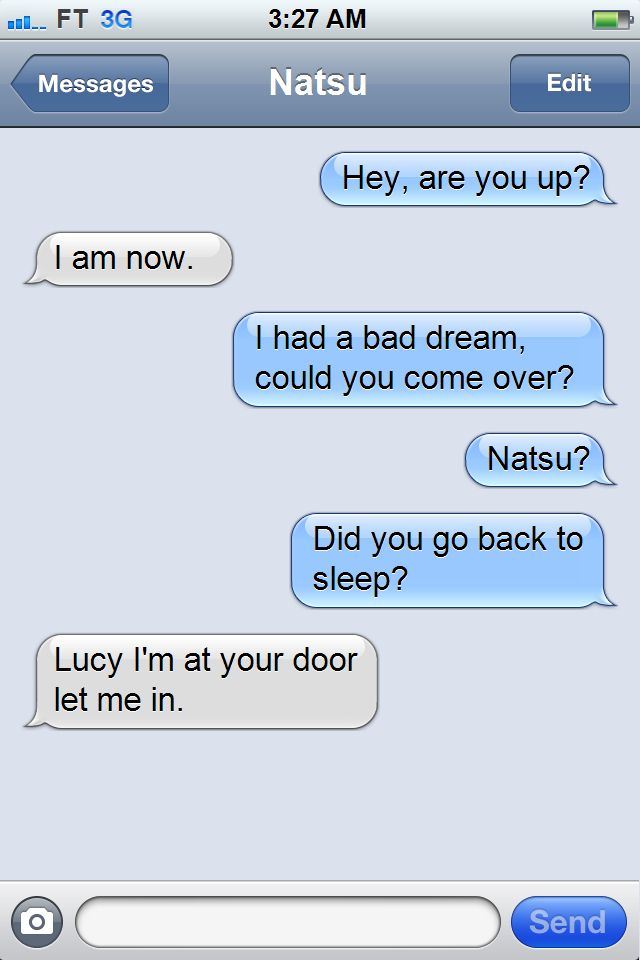 So fast! Just shows that Natsu is always by Lucy's side, even if he's not. ^.^