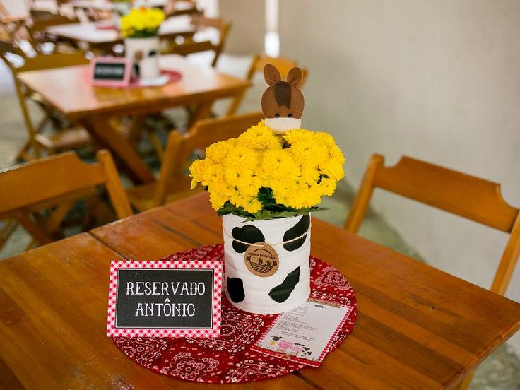 Festa fazendinha - Centro de mesa